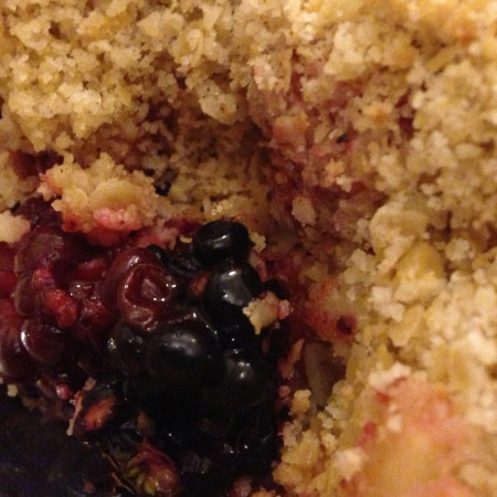 Apple, Blackberry and Strawberry Crumble