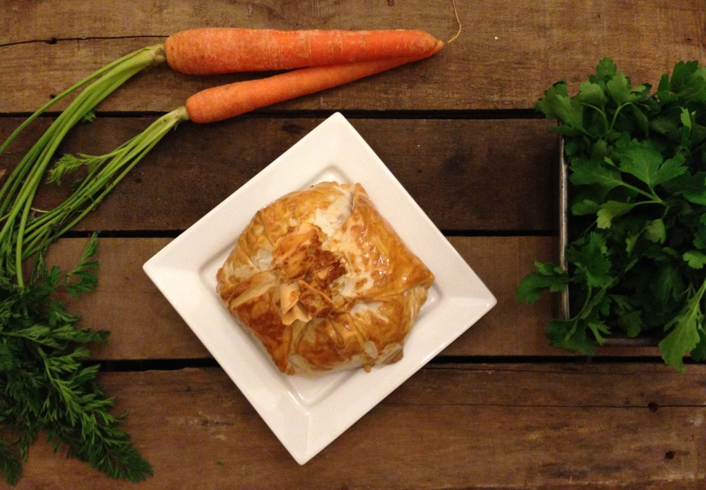 Mushroom, Mozzarella & Broccoli Filo Pie