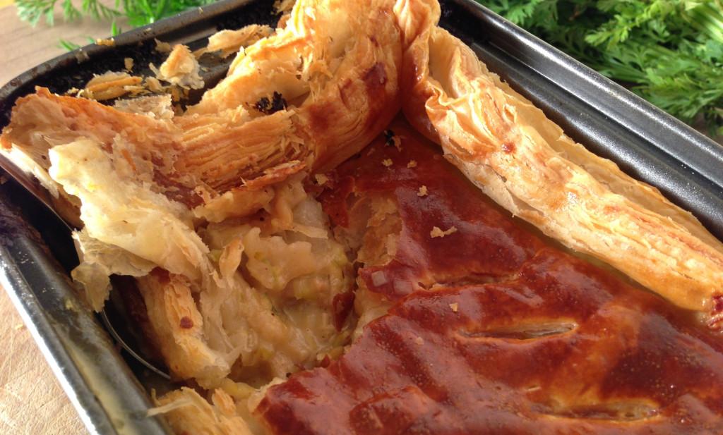 Smoked Haddock, Broccoli & Leek Puff Pastry Pie