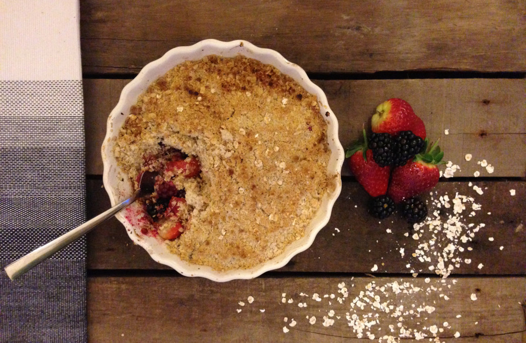 Strawberry, Blackberry & Apple Crumble