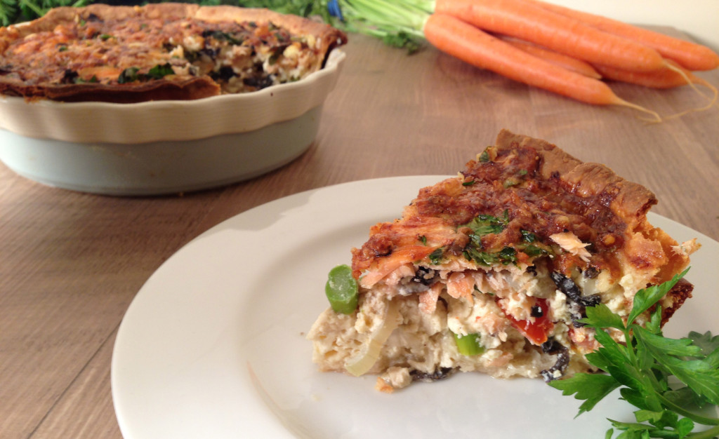 Smoked Salmon and Vegetable Quiche
