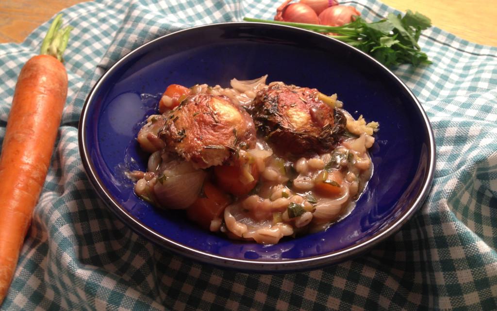 Vegetable & Pearl Barley Stew with Dumplings