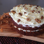 Carrot & Walnut Cake with Buttercream Frosting