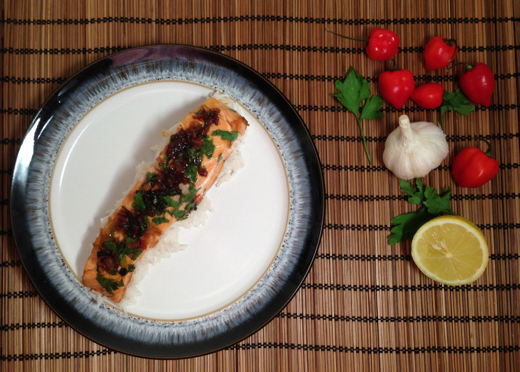 Oriental Salmon Coconut Rice