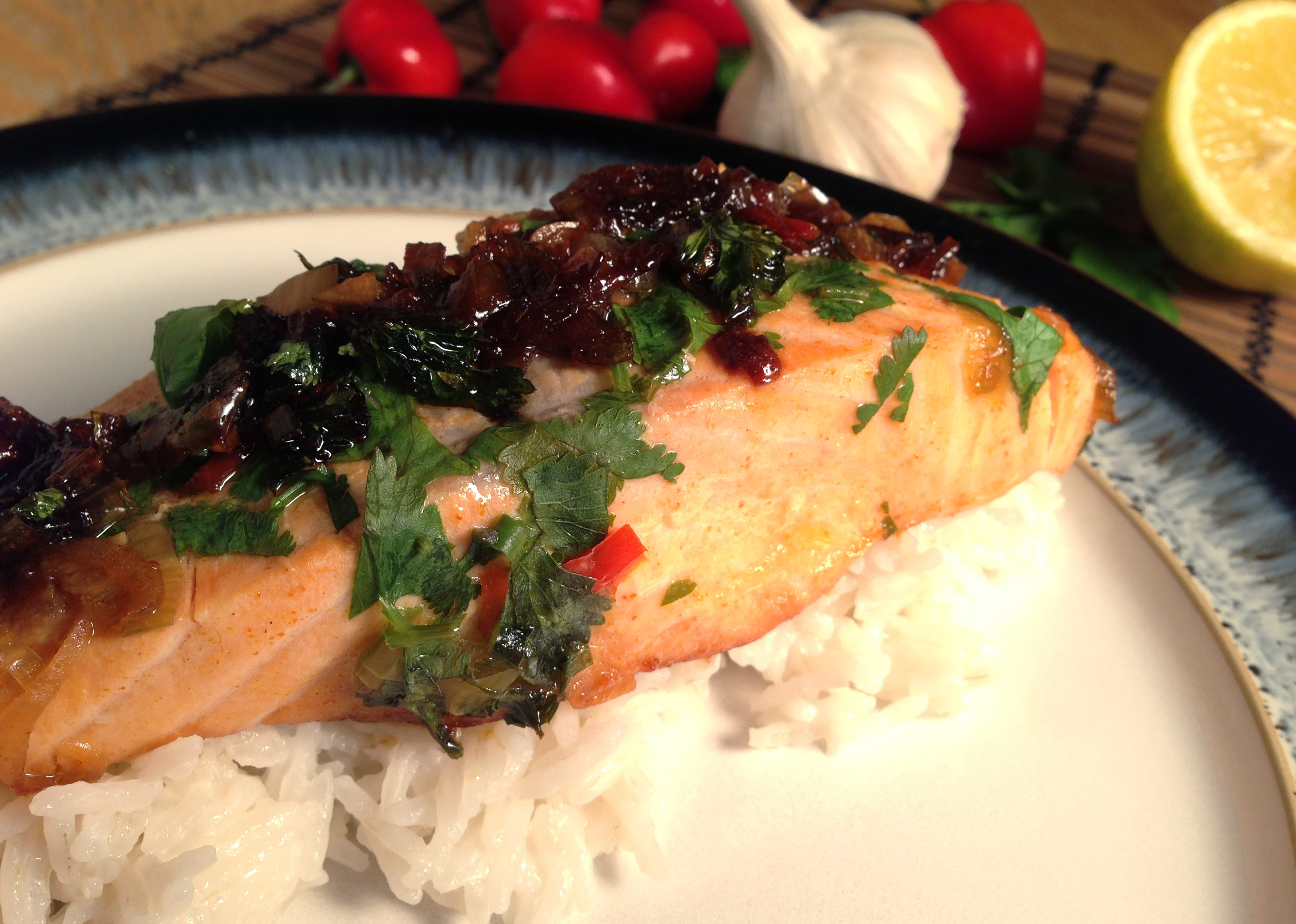 Oriental Salmon with Coconut Rice