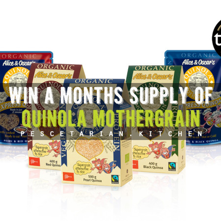 Win a month's supply of Quinola Mothergrain with Pescetarian Kicthen