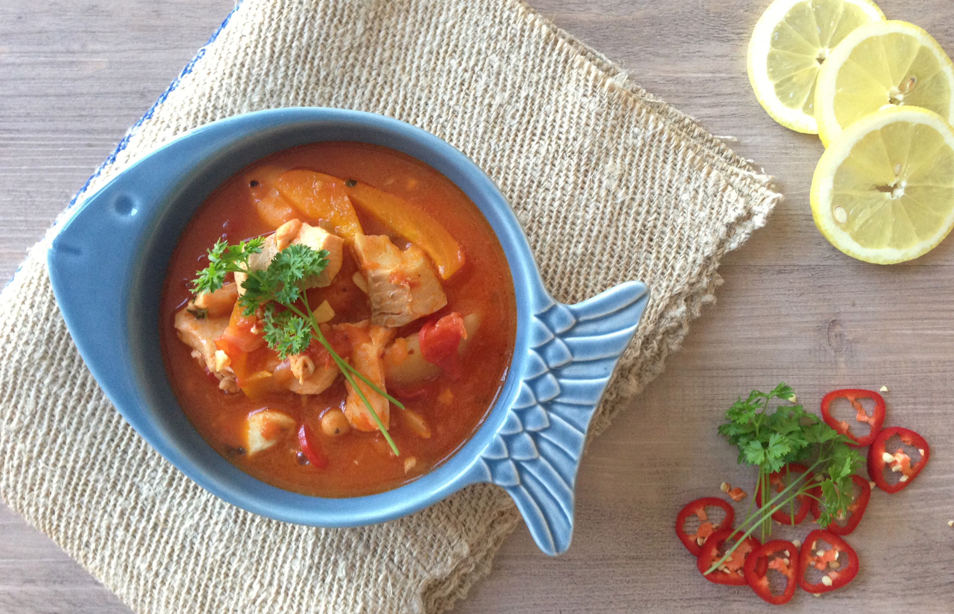 Mediterranean fish stew recipe pescetarian kitchen for Fish stew recipes