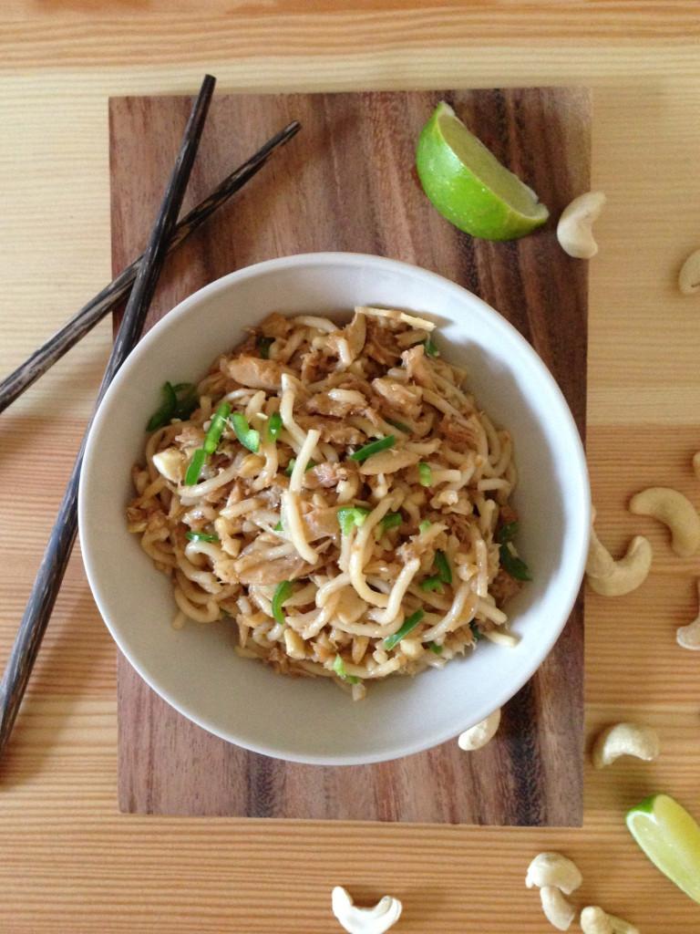 Spicy Oriental Crab Noodles - Pescetarian.Kitchen
