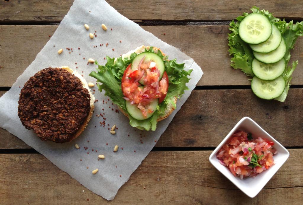 Quinoa & Black Bean Veggie Burgers