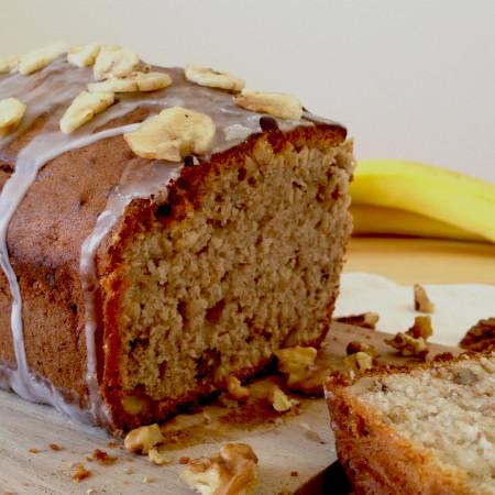 Sweet Banana and Walnut Loaf