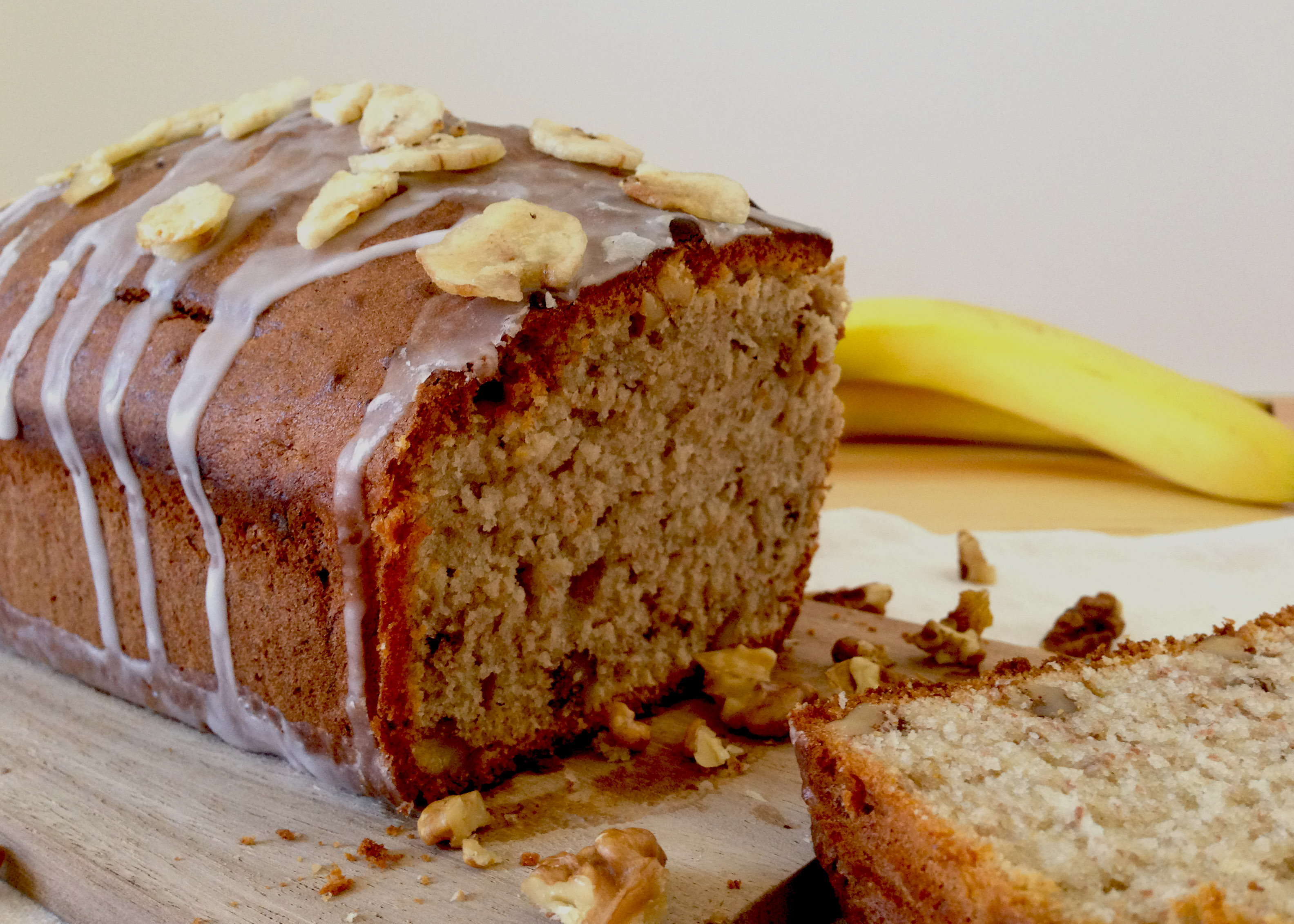 Sweet Banana and Walnut Loaf