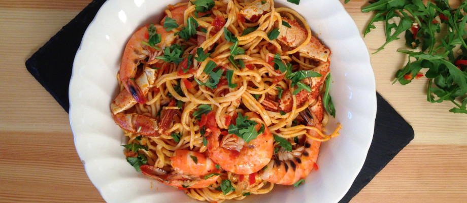 King Prawn and Crab Spaghetti