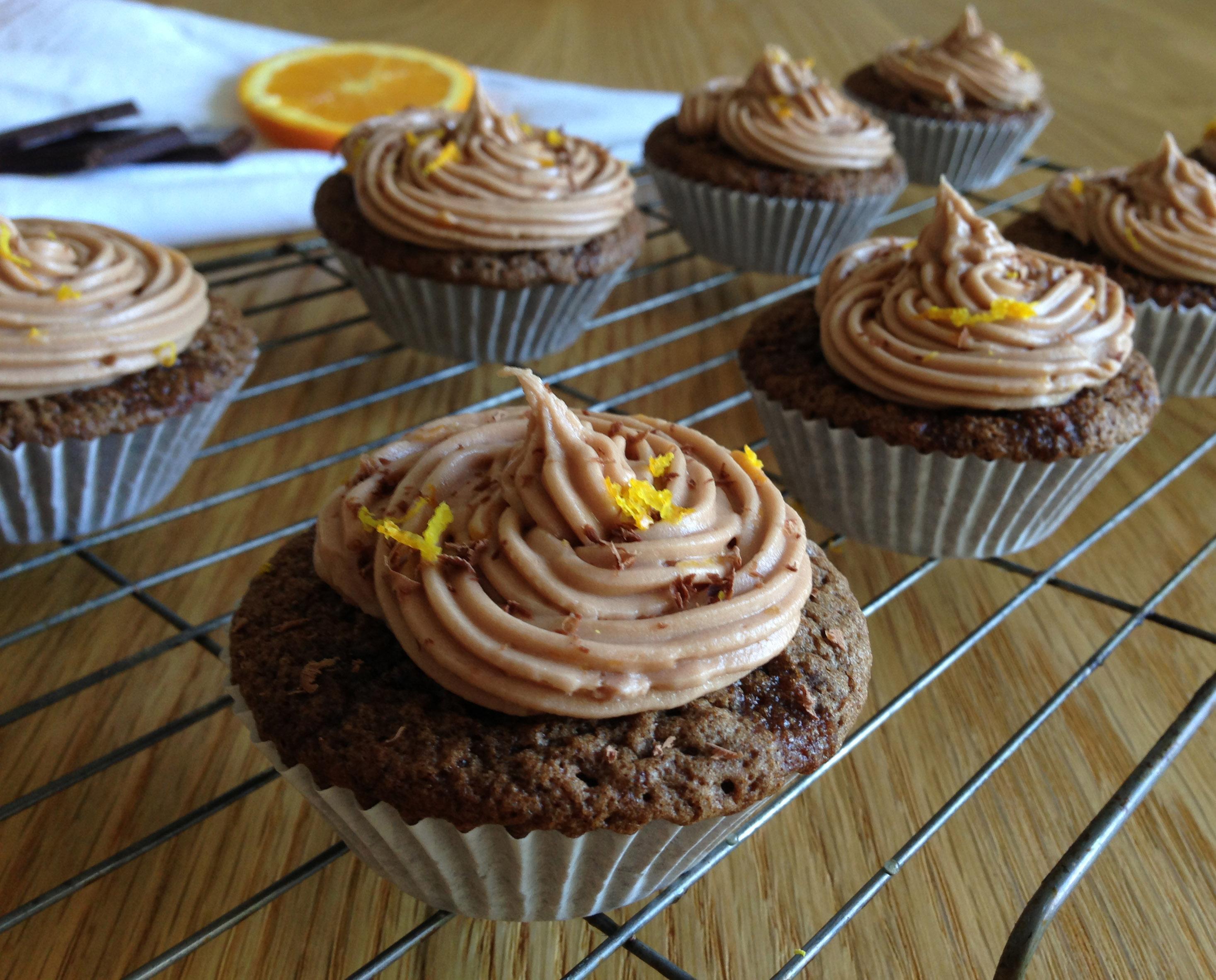 Dark Chocolate Orange Cupcakes Recipe - Pescetarian.Kitchen