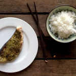 Grilled Swordfish Steak with a Pesto, Chili & Lemon Crust
