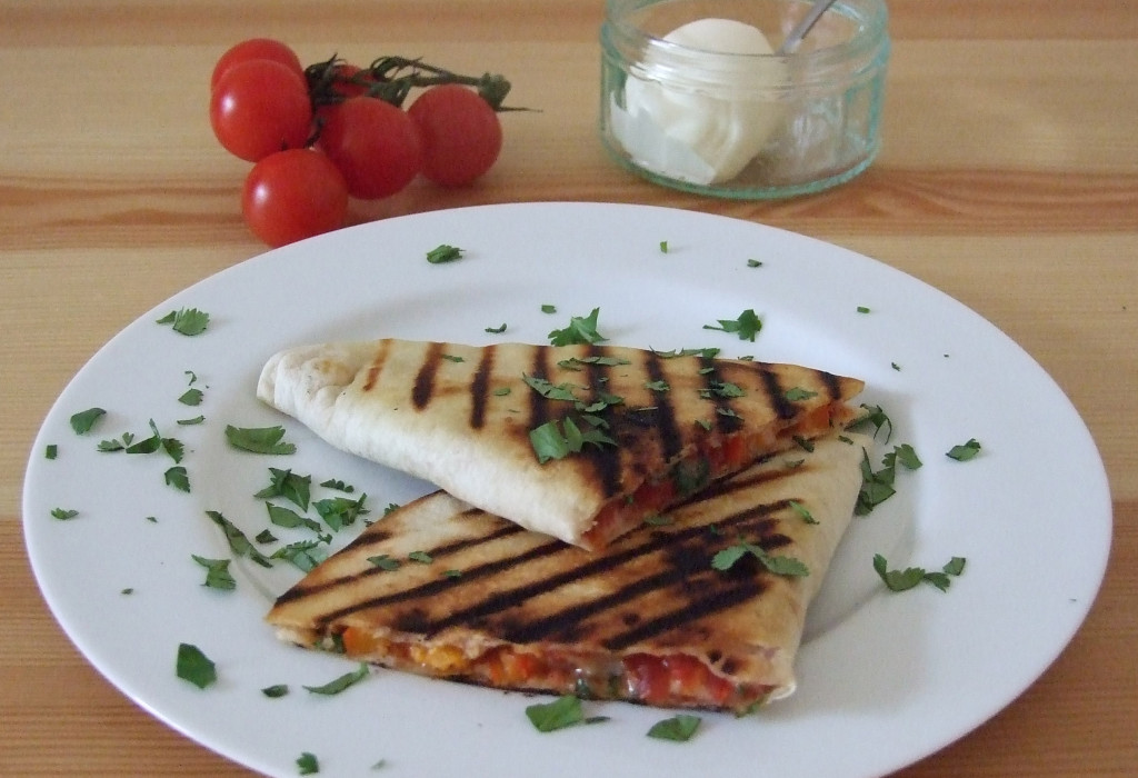 Vegetarian Quesadilla with Cheese