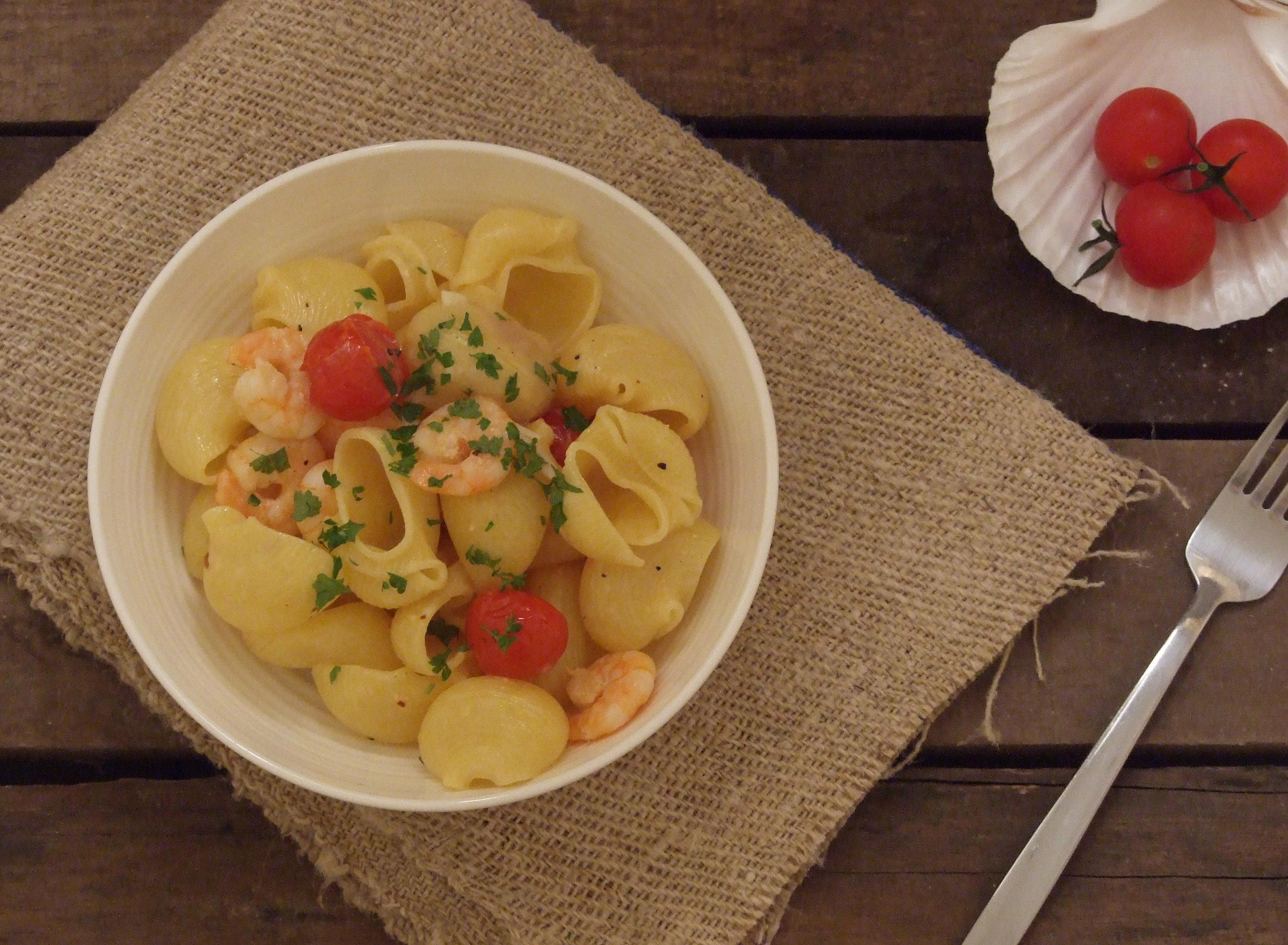 Conchiglie Shrimp Pasta