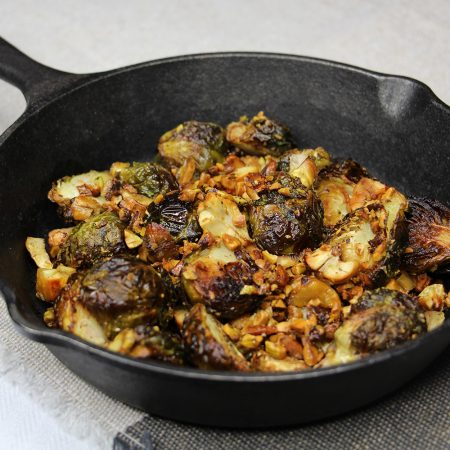 Roasted Brussel Sprouts with Chestnuts
