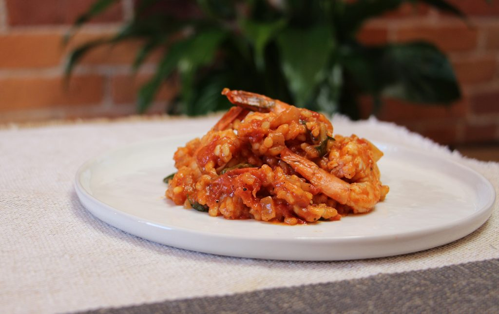 Tomato & Prawn Risotto #seafood #italian #recipe #shrimp