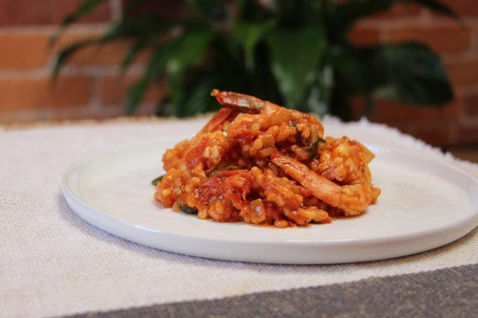 Tomato and Prawn Risotto