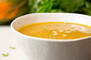 Curried Butternut Squash Soup Close Up