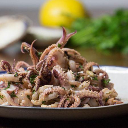 Sautéed Garlic Calamari