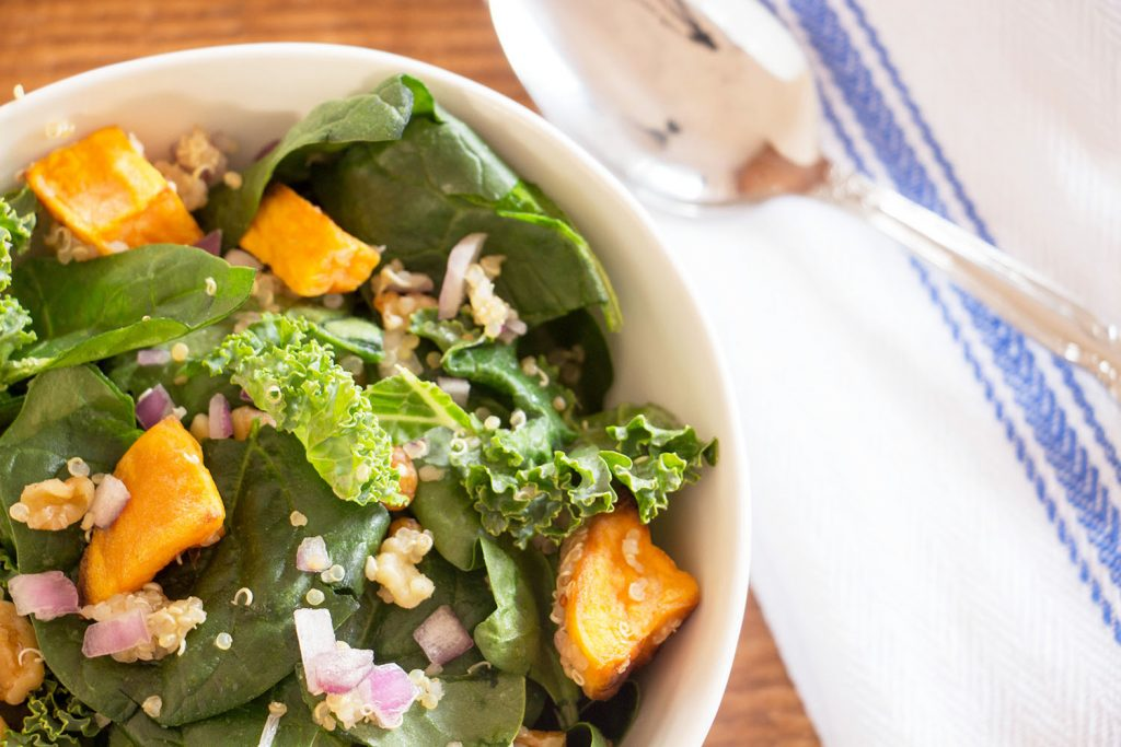 Roasted Sweet Potato and Quinoa Salad