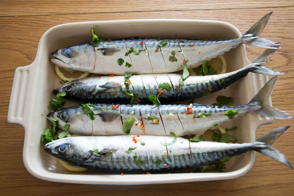 Grilled chilli and lime mackerel