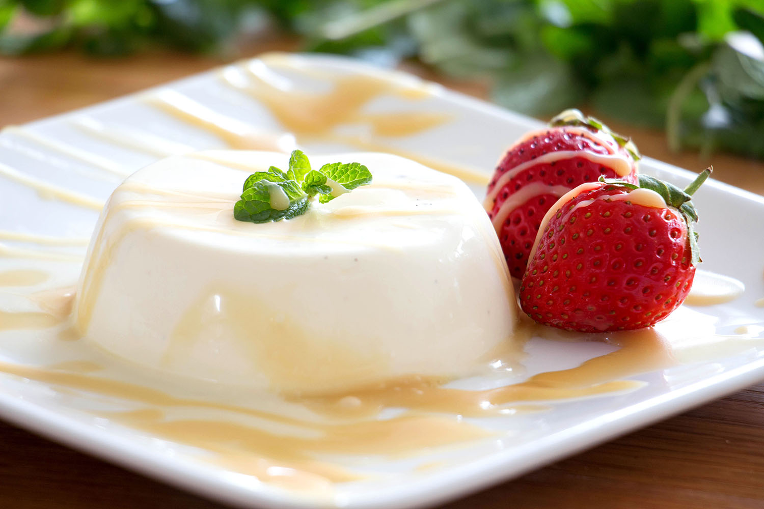 Panna Cotta with Salted Caramel Sauce