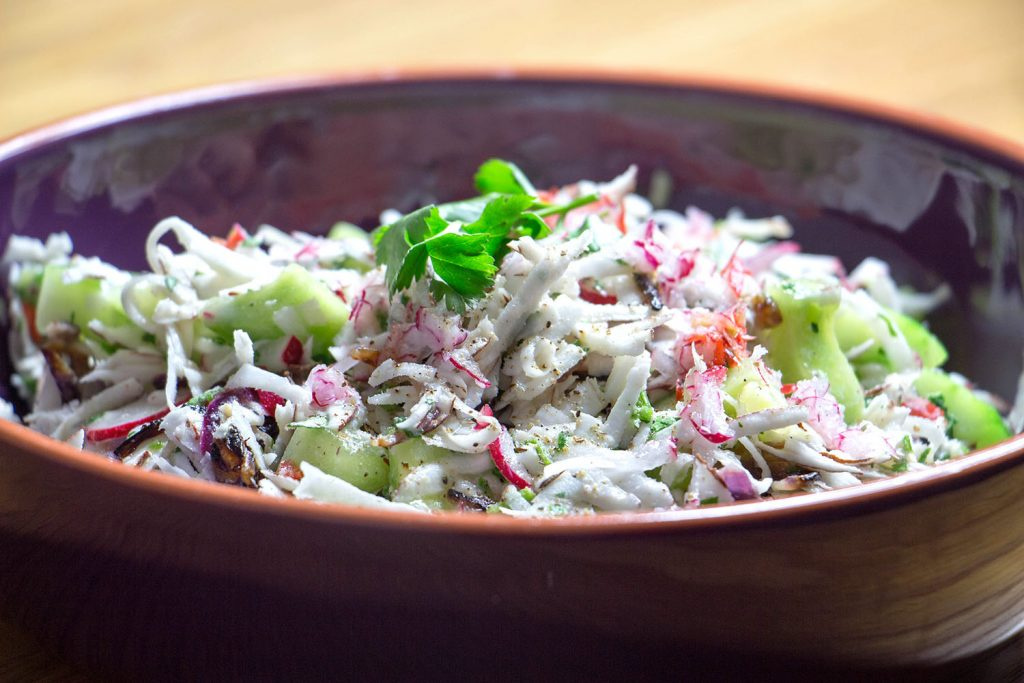 Coconut and Cucumber Salad
