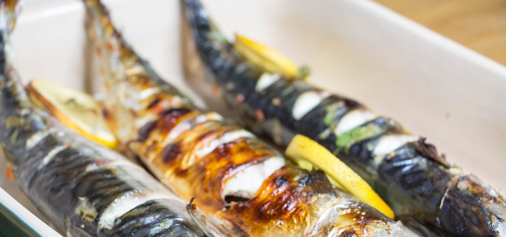 Lime and chilli grilled mackerel