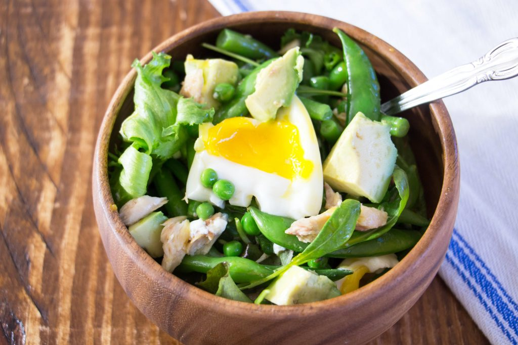 Mackerel and green bean salad