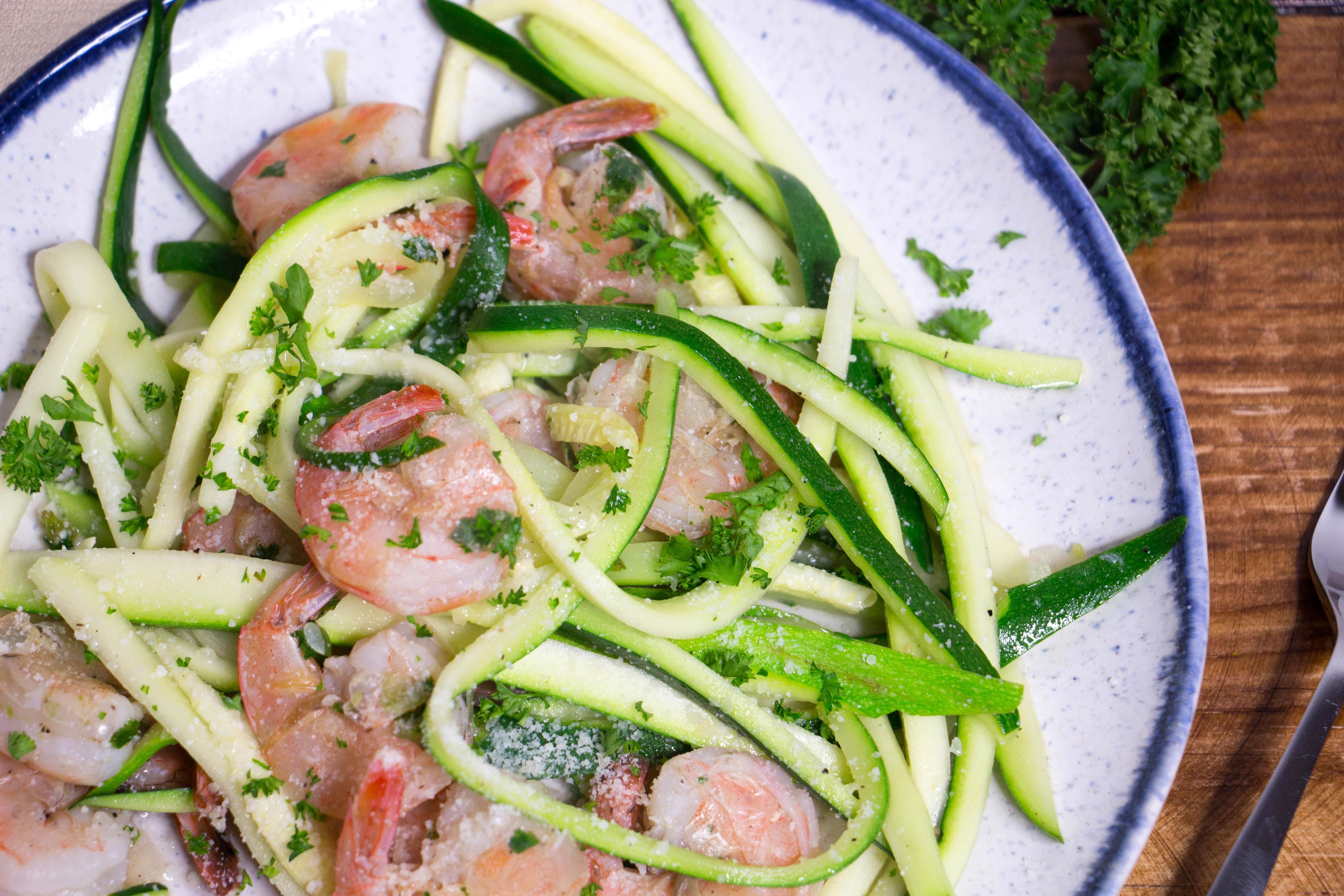 Shrimp Zucchini Linguine