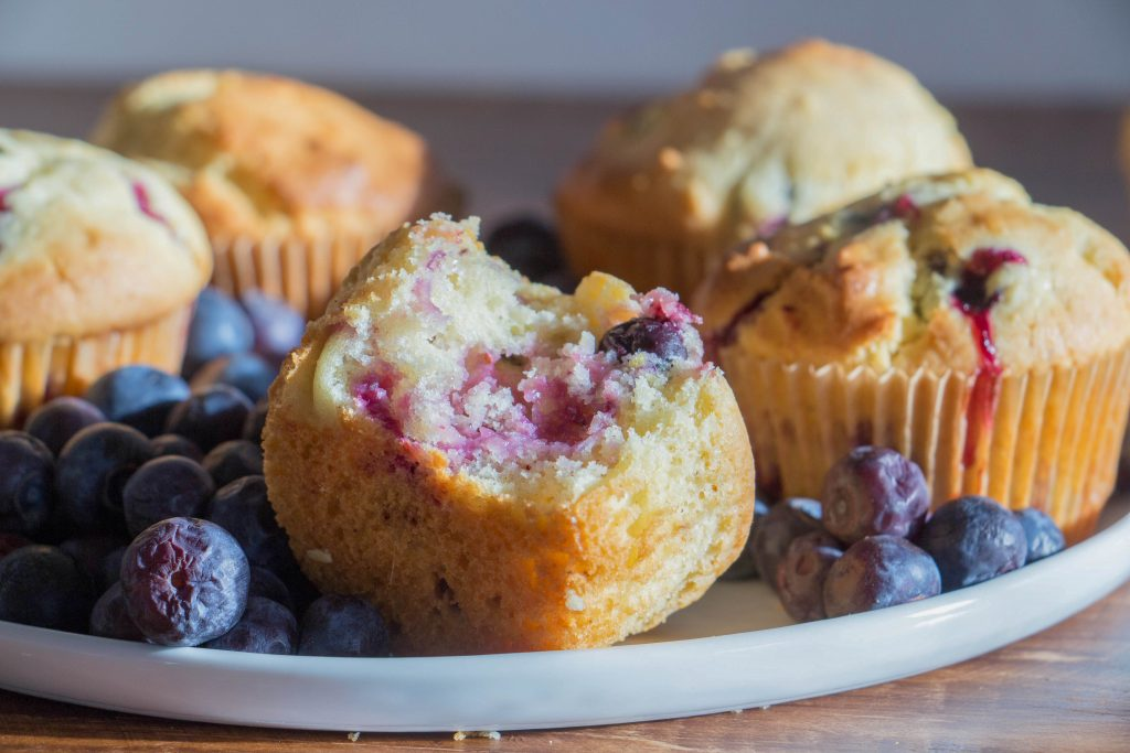 Blueberry and lemon muffins 1