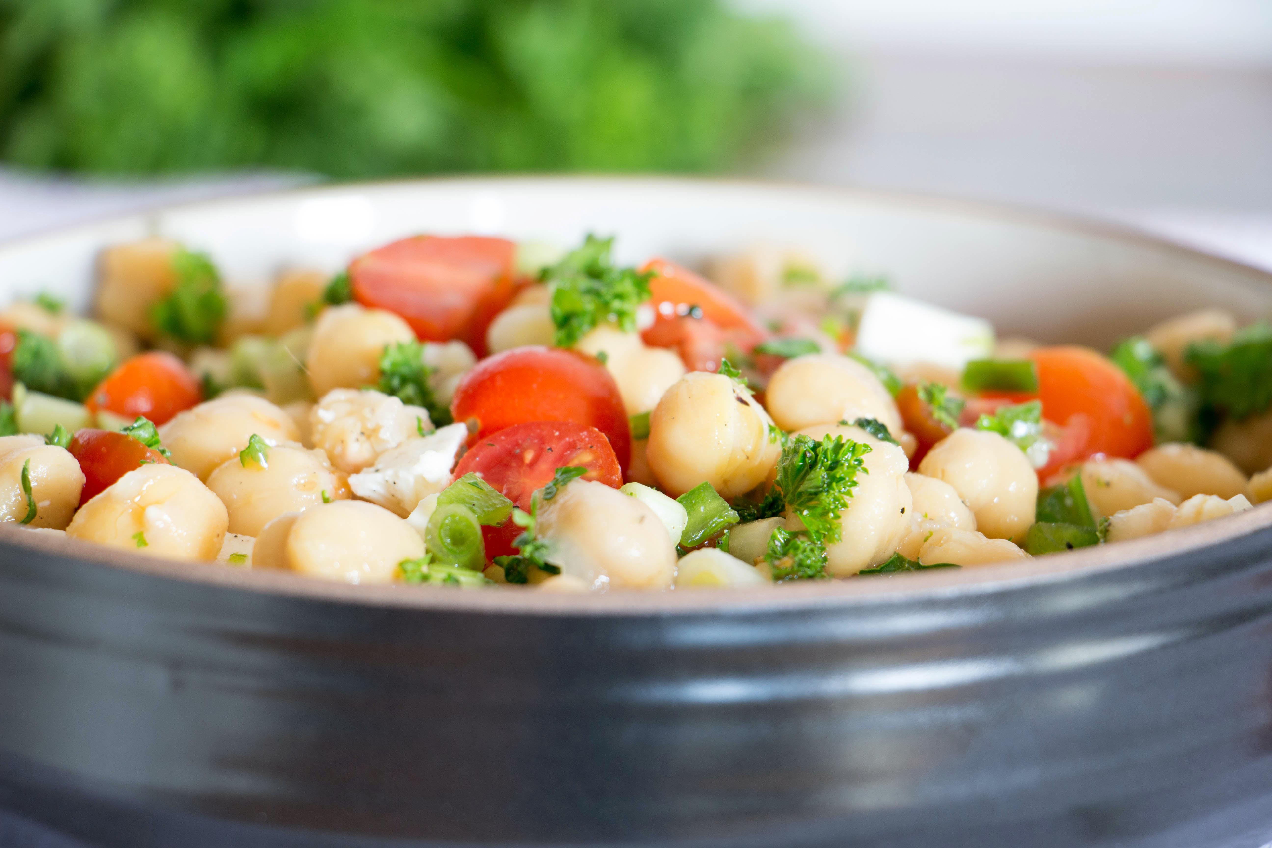Greek Chickpea Salad Recipe from Pescetarian.Kitchen