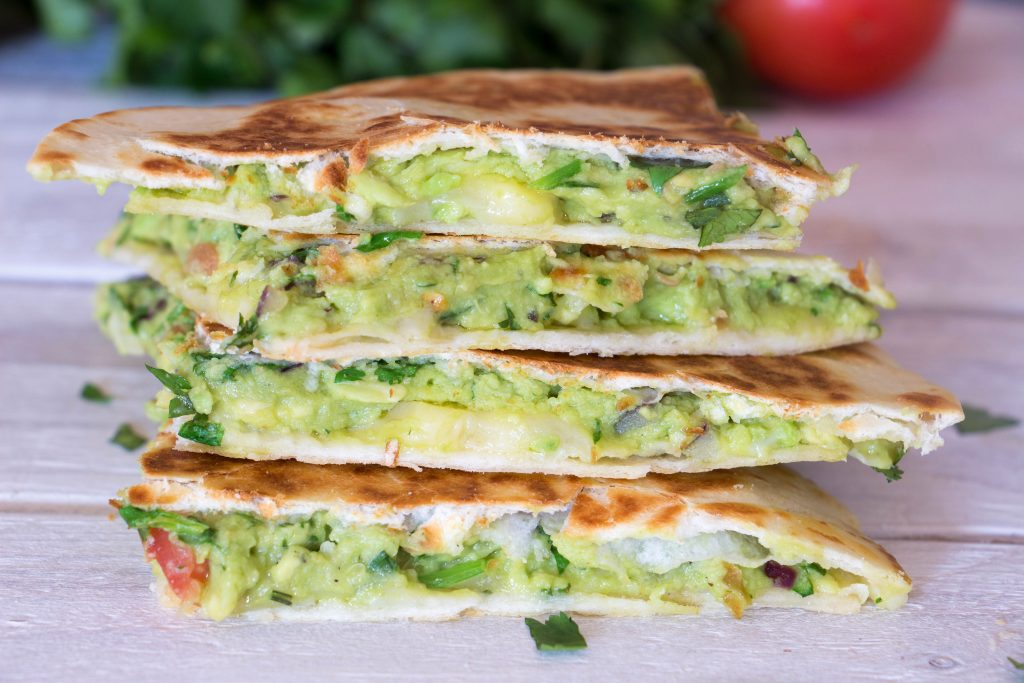 Guacamole quesadillas