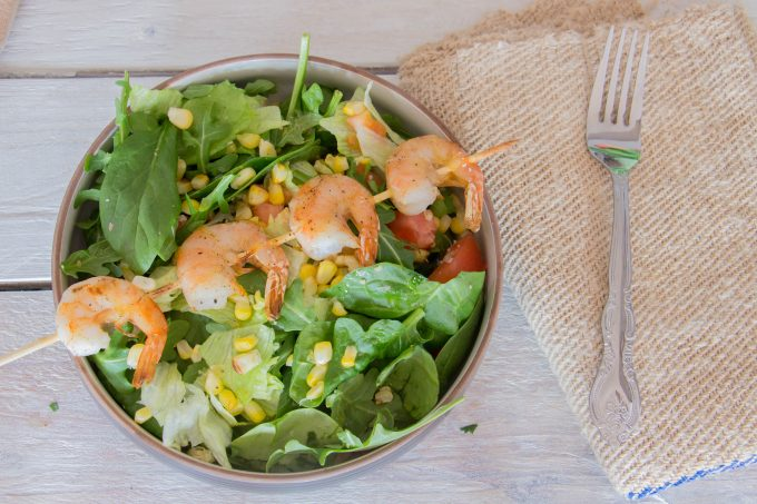 Broiled Shrimp Salad