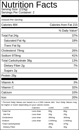 sardines on toast nutritional infromation