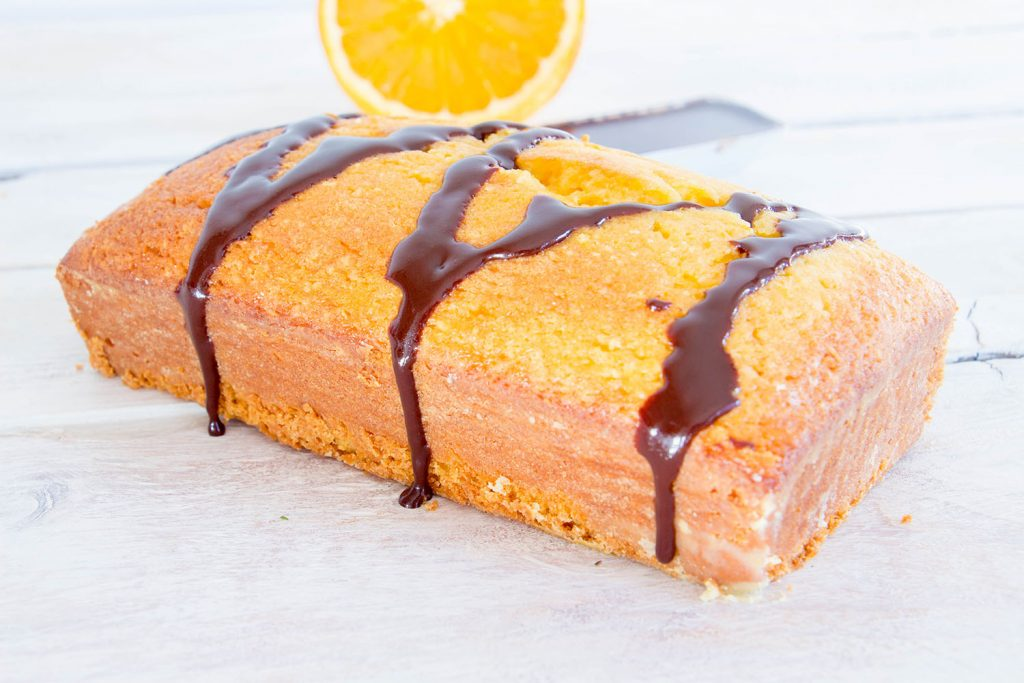 Orange Pound Cake chocolate sauce 5