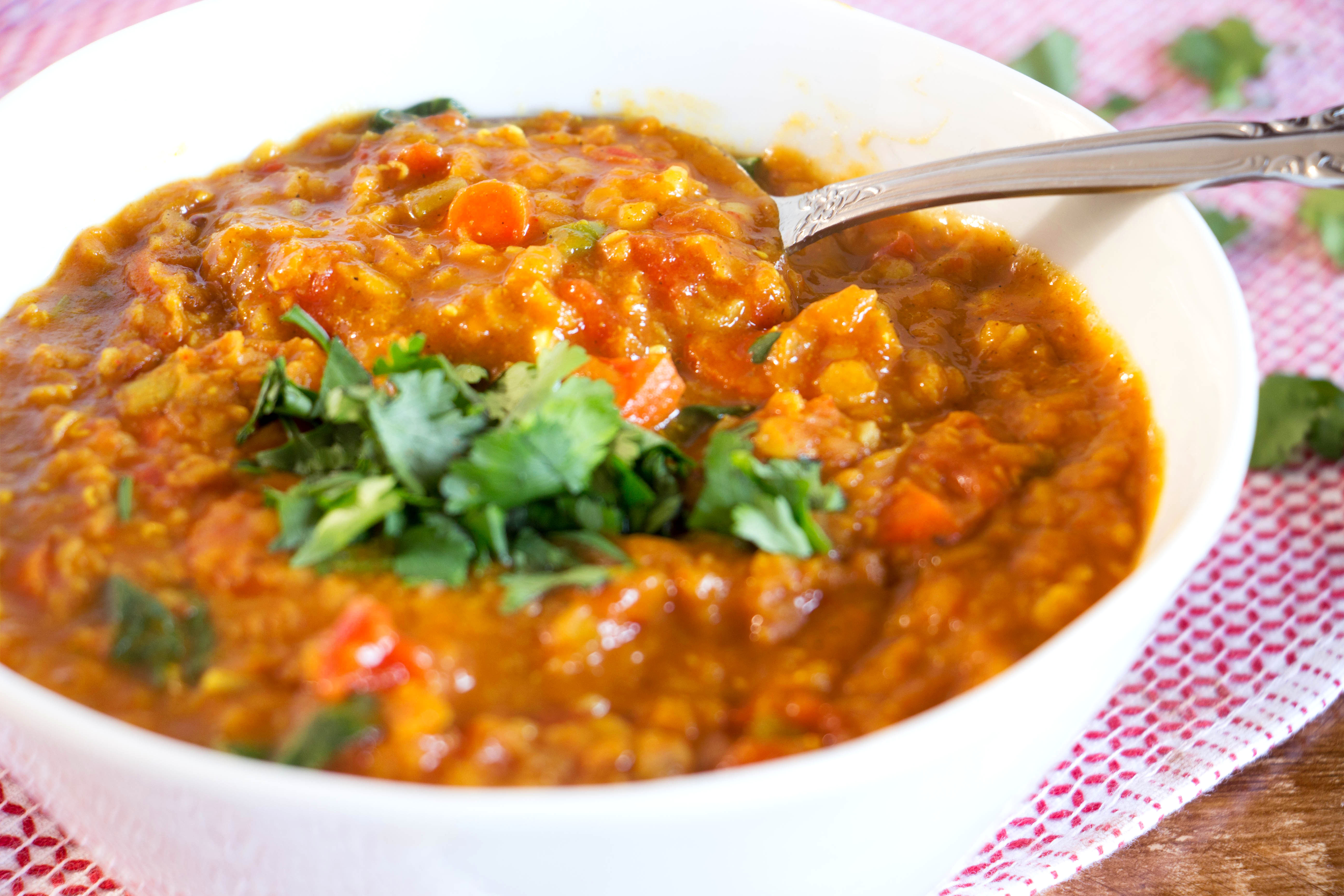 Vegan Red Lentil Curry Recipe from Pescetarian.Kitchen
