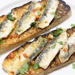 Pan-Fried Sardine Fillets on Toast