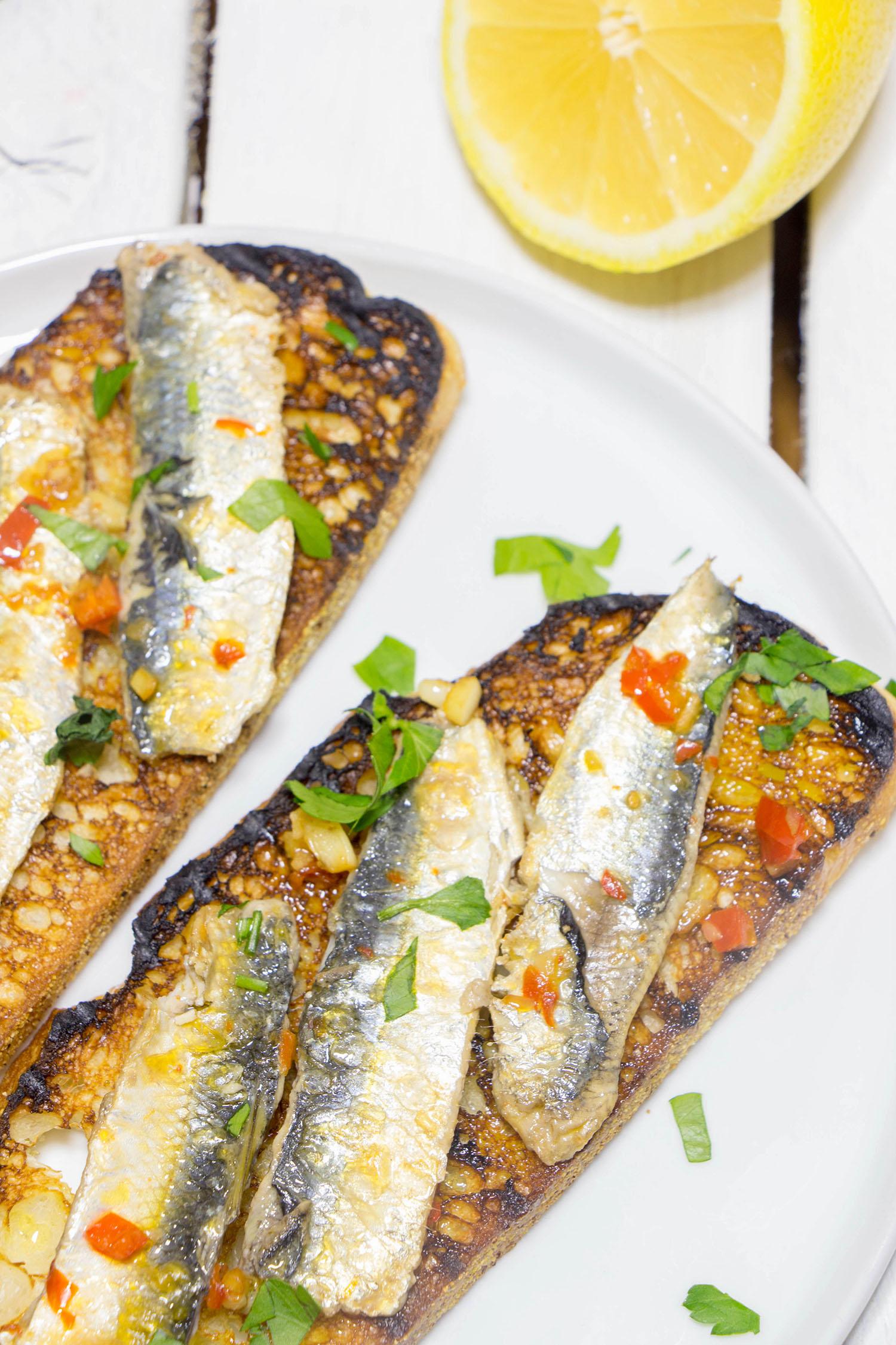 Pan Fried Sardine Fillets On Toast Recipe From Pescetarian
