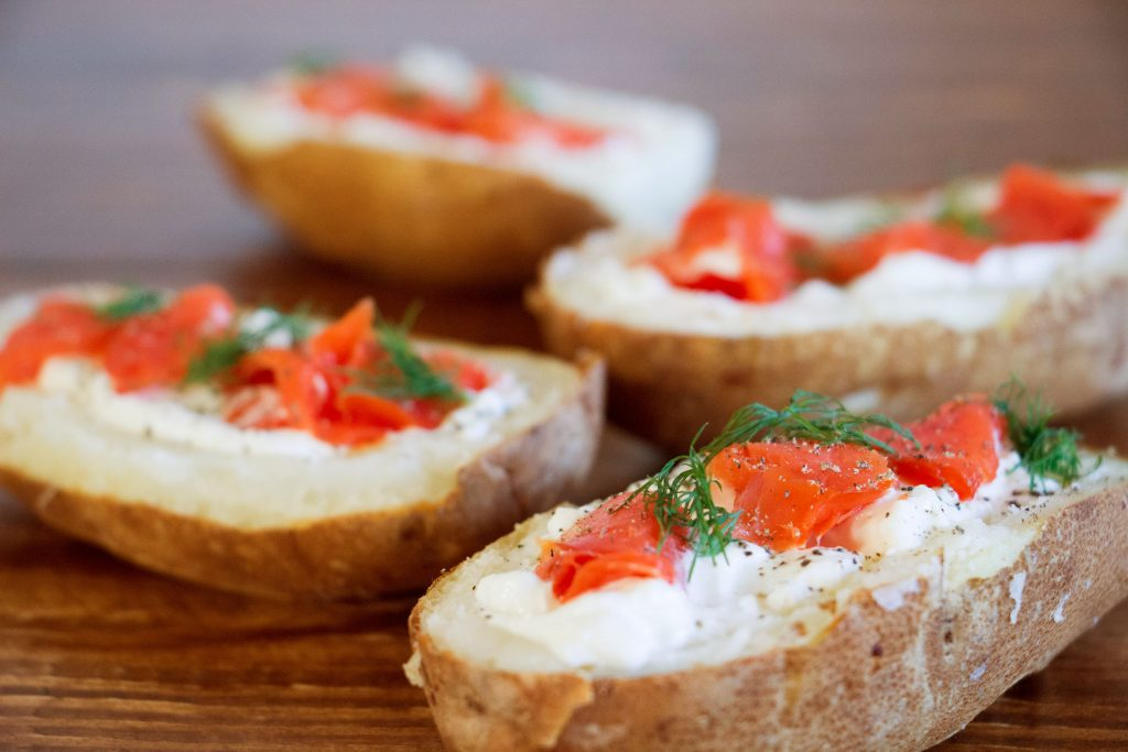 Smoked salmon potato skins 2