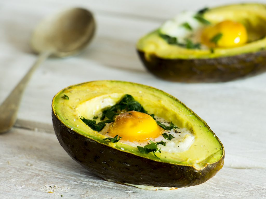 Breakfast Avocado Baked Eggs