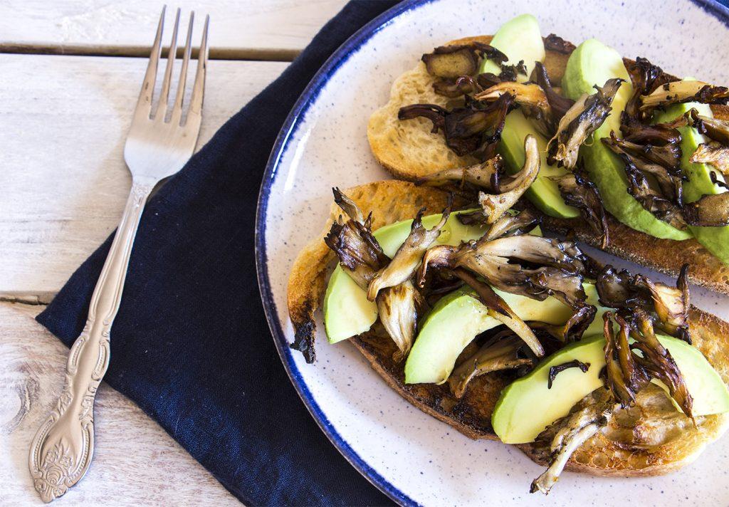 Avocado & Sautéed Mushroom Toast