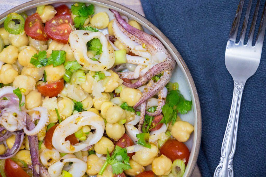 Calamari chickpea salad 2