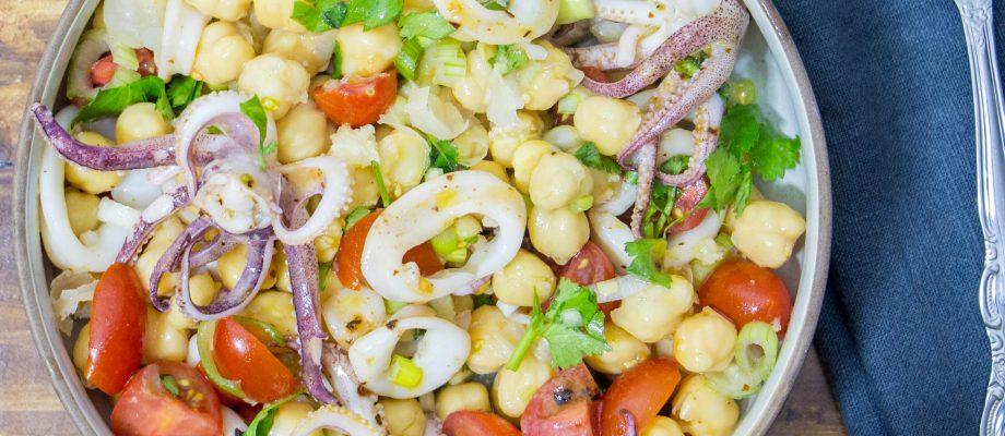 Calamari and Chickpea Salad