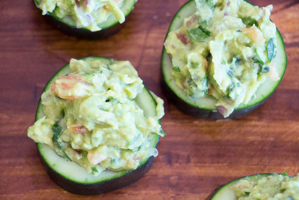 Guacamole cucumber cups 3