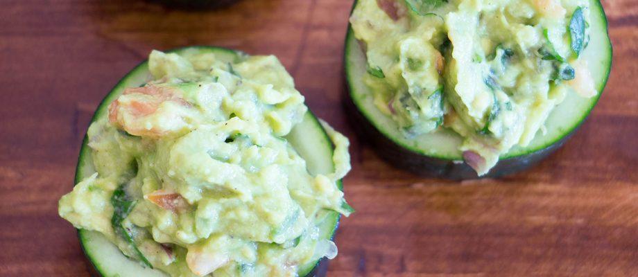 Guacamole Cucumber Cups