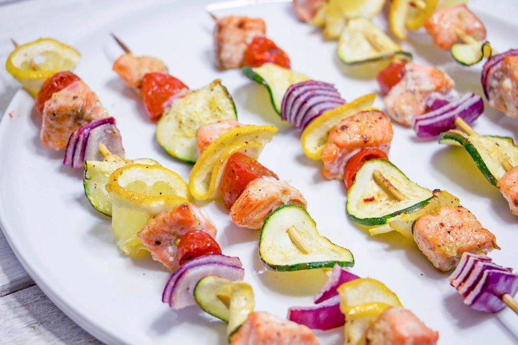 Salmon kebabs 3