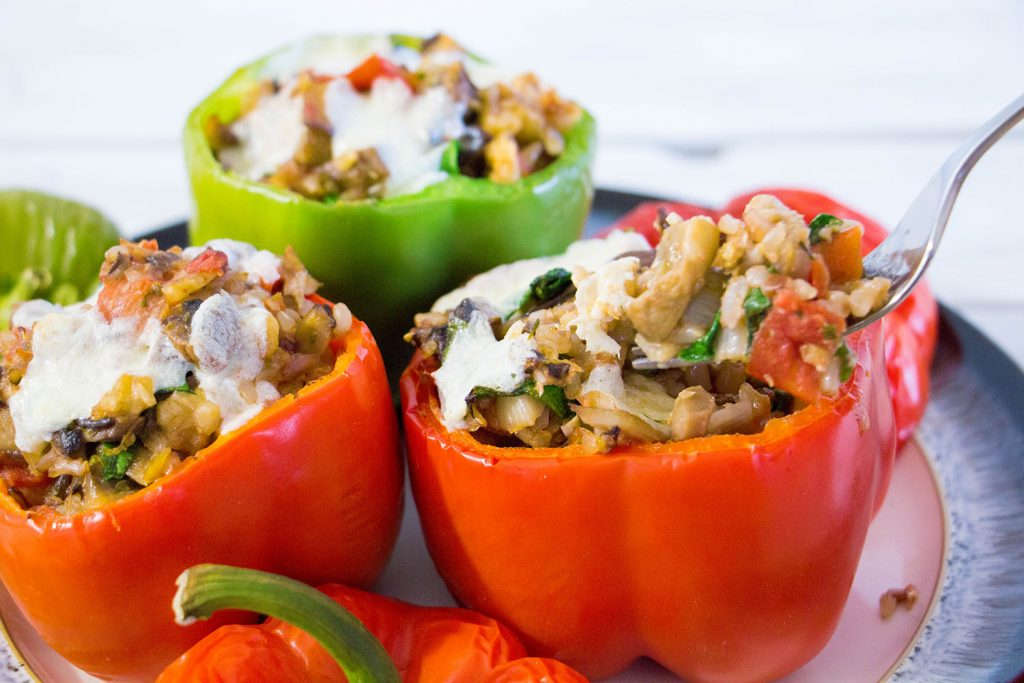 Stuffed peppers wild rice 5